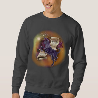 Sabedoria da camisola básica de um Unicorn~men Moletom