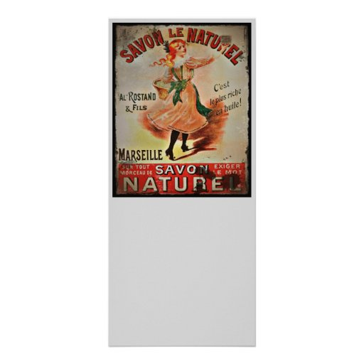 Sabões de Savon Naturel do vintage Panfleto Personalizado