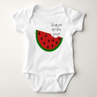 Saboroso em minha camisa do bebê da melancia da