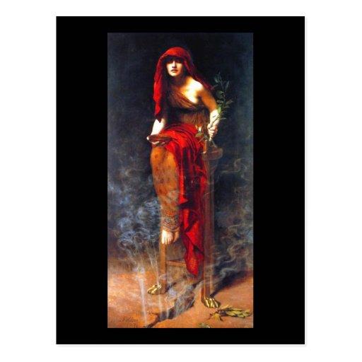 Sacerdotisa da pintura das belas artes do mineiro  cartao postal