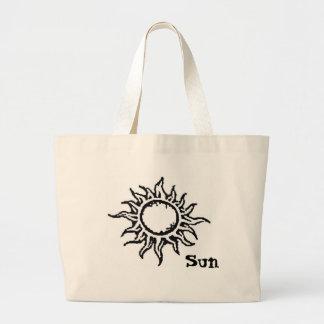 Saco alaranjado do sol bolsa para compra