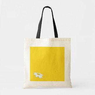 Saco amarelo da margarida bolsa para compra