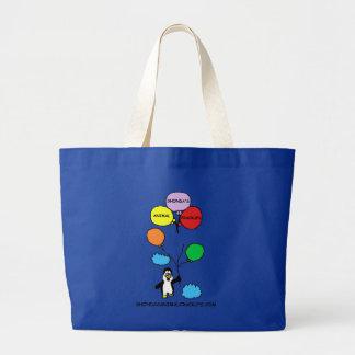 Saco animal do logotipo de Shondas Crackups (azul) Bolsa Tote Grande