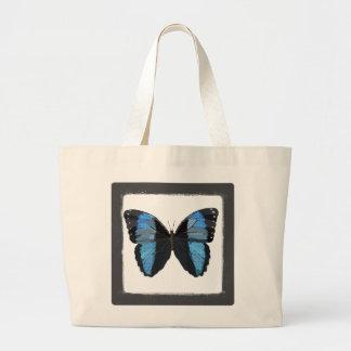 Saco azul da arte da borboleta de Boho Sacola Tote Jumbo
