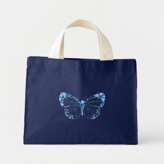 Saco azul da borboleta bolsas de lona