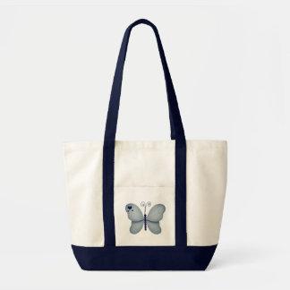 Saco azul da borboleta bolsa