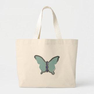 Saco azul da borboleta bolsas