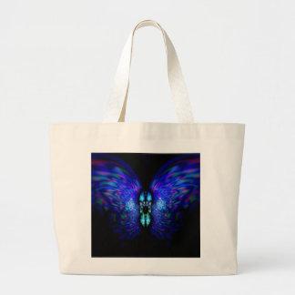 Saco azul da borboleta da noite sacola tote jumbo