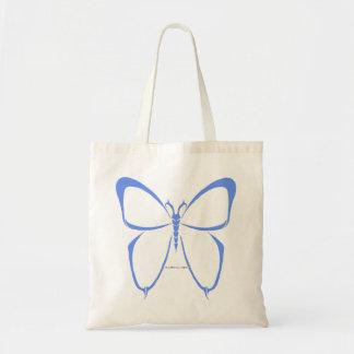 saco azul da borboleta tribal bolsas para compras