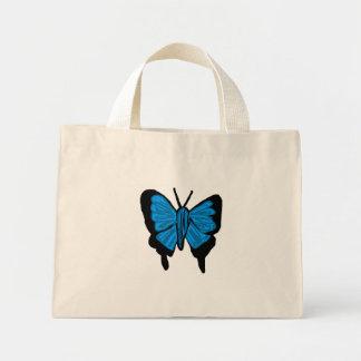 saco azul das borboletas do swallowtail bolsas