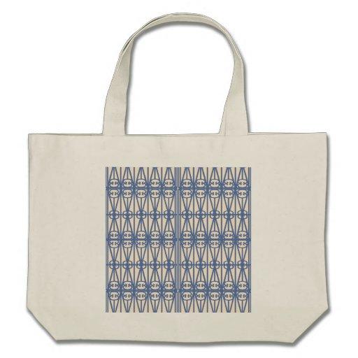 Saco azul do branco da antiguidade do nouveau da a bolsas para compras
