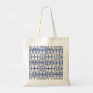 Saco azul do branco da antiguidade do nouveau da bolsas para compras