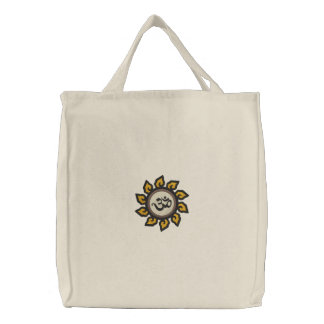 Saco bordado símbolo do OM da ioga