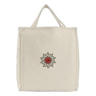 Saco bordado símbolo do OM da ioga Bolsa Bordada