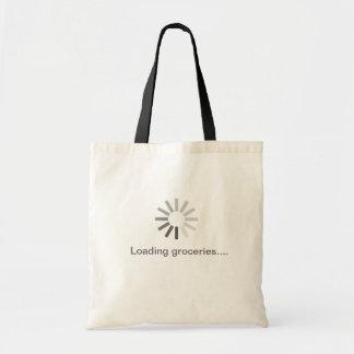 saco cinzento do símbolo da carga do computador bolsas para compras