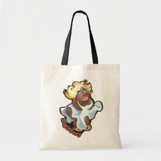 Saco com caráter engraçado do hipopótamo bolsas