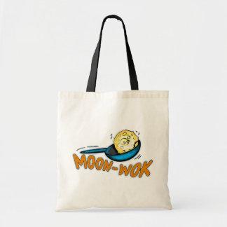 SACO cómico brilhante engraçado do desenho do Moon Bolsas Para Compras