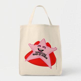 saco cómico da madrinha de casamento da estrela mu sacola tote de mercado