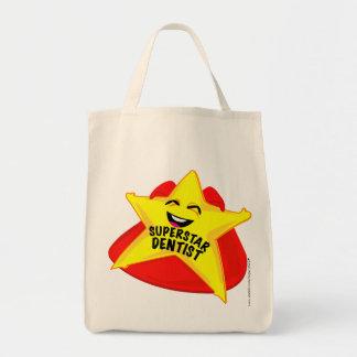 saco cómico do dentista da estrela mundial! bolsas para compras