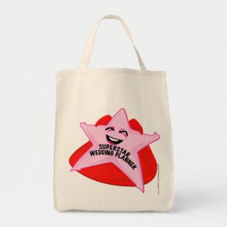 saco cómico do planejador do casamento da estrela  bolsas de lona