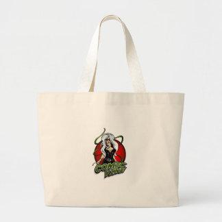 Saco cómico do vermelho do logotipo da videira bolsa tote grande