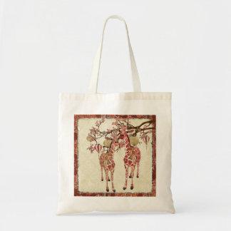 Saco cor-de-rosa bonito da flor de cerejeira dos g bolsas de lona