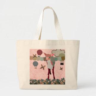 Saco cor-de-rosa bonito da raça do balão da jovem  bolsa