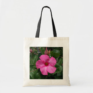 Saco cor-de-rosa da flor bolsas para compras