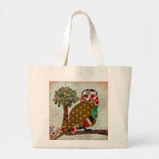 Saco cor-de-rosa da serenidade da coruja bolsa
