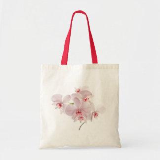 Saco cor-de-rosa das orquídeas bolsas para compras