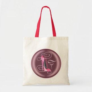 Saco cor-de-rosa do botão 3D do estilete Sacola Tote Budget