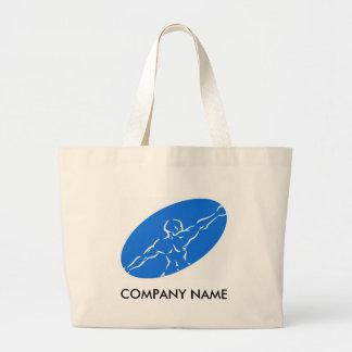 Saco customizável da malhação - azul bolsa tote grande