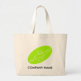 Saco customizável da malhação - luz - verde bolsa tote grande