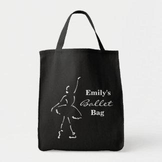 Saco customizável do balé com bailarina bolsa tote
