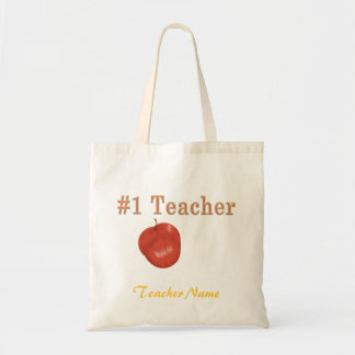 Saco customizável do professor #1 bolsa tote