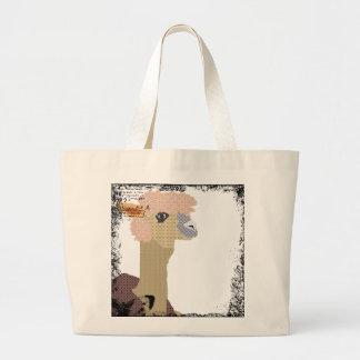 Saco da alpaca do vintage sacola tote jumbo