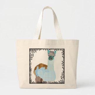 Saco da arte da alpaca II do vintage Sacola Tote Jumbo