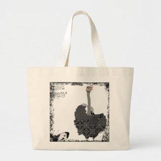 Saco da arte da avestruz do vintage bolsa para compra