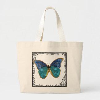 Saco da arte da borboleta de Boho Sacola Tote Jumbo