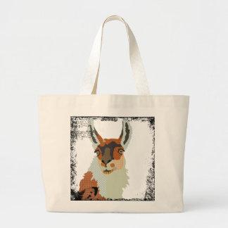 Saco da arte do lama do vintage bolsa de lona