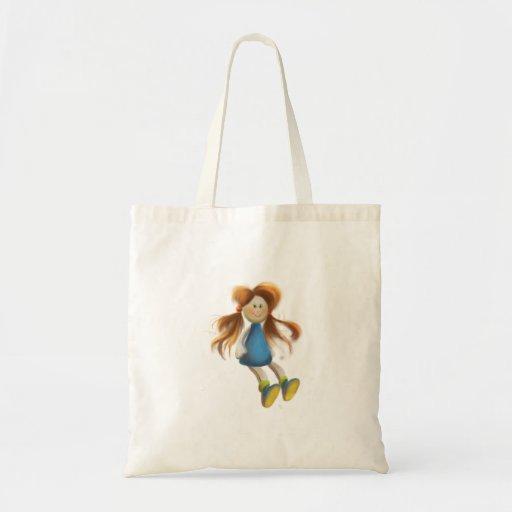 saco da boneca dos desenhos animados bolsas de lona
