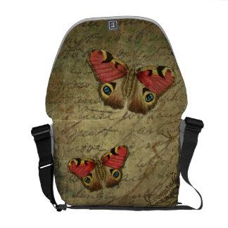 Saco da borboleta do vintage bolsa mensageiro