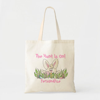 Saco da caça do ovo da páscoa bolsas para compras