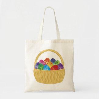 Saco da cesta dos ovos da páscoa bolsa de lona