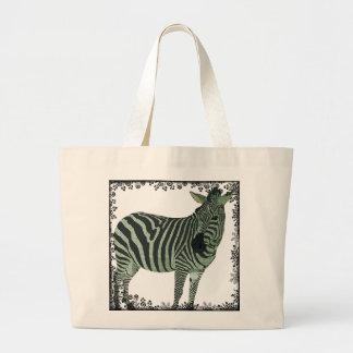 Saco da cintilação da zebra do vintage bolsas de lona