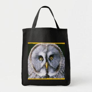 Saco da coruja 2 bolsas para compras