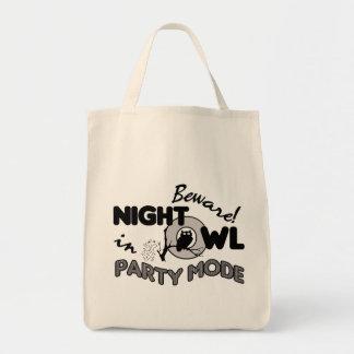 Saco da coruja de noite bolsa para compra