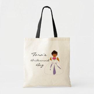 Saco da dama de honra bolsa de lona