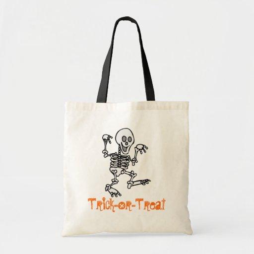 Saco da doçura ou travessura (esqueleto) bolsas de lona