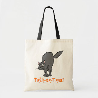 Saco da doçura ou travessura (gato preto) bolsa